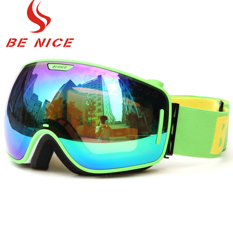Detachable Lightweight Reflective Snowboard Goggles With 100% UV Protection
