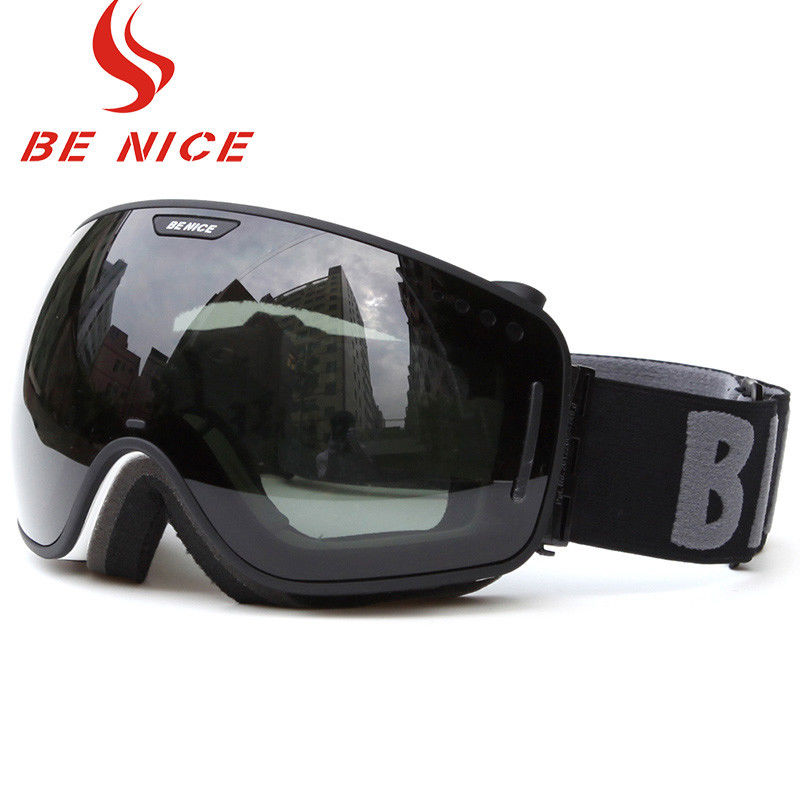 Anti Fog Scratch Mirrored Ski Goggles TPU Frame With CE , FDA Certificate