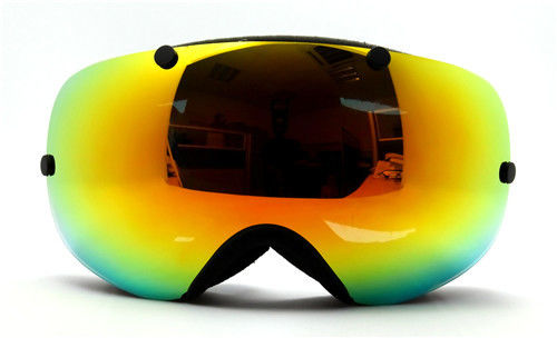 Windproof Warm Dual-lens Adjustable Ski Snowboard Goggles with Print logo
